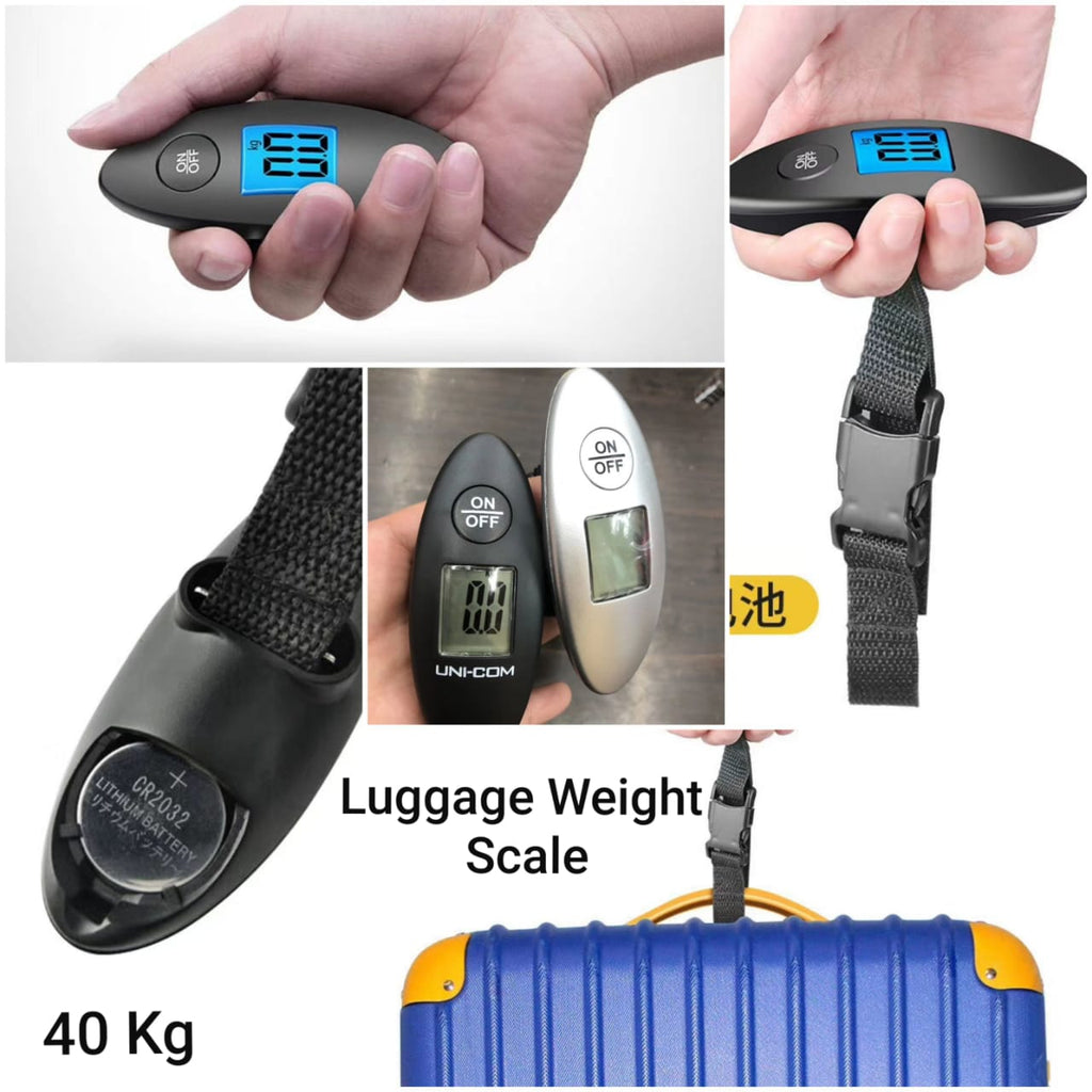 40kg Digital Electronic Luggage Scale LCD Travel Handheld Weight Balance Portable Travel Suitcase Scale With Strap