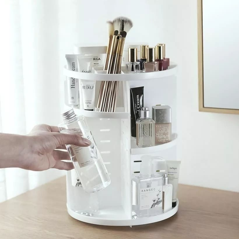 Makeup Organizer Desktop storage Multifunctional 360-Degree Rotating Removable DIY Cosmetic Storage Box Large Capacity