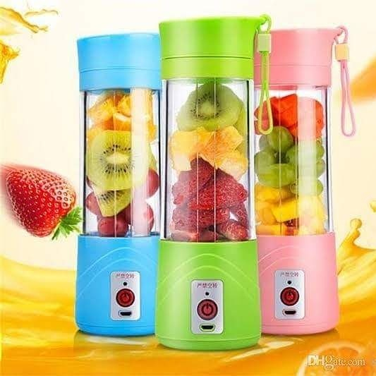 380ml Portable Blender Juicer Cup USB Rechargeable Electric Automatic Vegetable Fruit Citrus Orange Juice Maker Cup Mixer