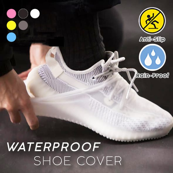 1pair portable Waterproof Shoe Cover durable Outdoor Rainproof Hiking Skid-proof Silicone Shoe Covers
