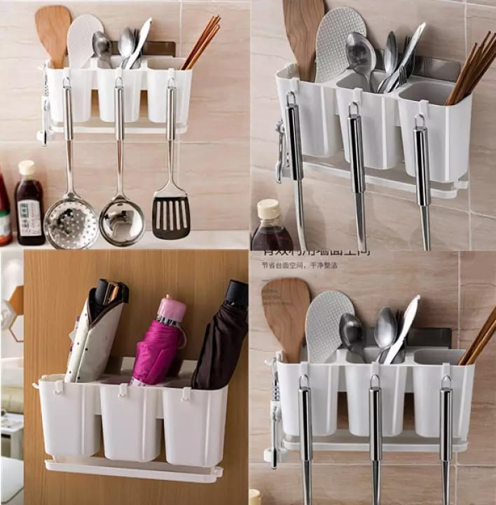 With Hook Kitchen Drain Chopsticks Cage Hanging Chopstick Storage Rack Cutlery Tabewear Drain Rack