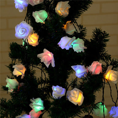 20 Led Rose Flowers Light String - ShopnHob (3596845350992)