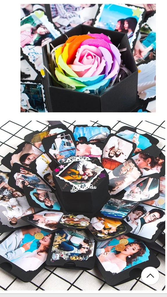 Surprise Love Box birthday Explosion Box Creative Photo Album - ShopnHob