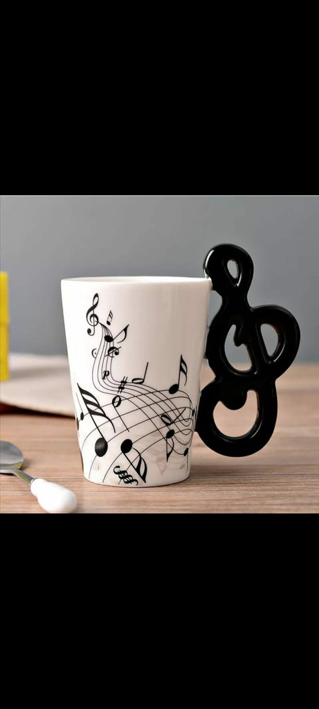 400ml Music Mug Creative Guitar Violin Style Ceramic Mug Coffee Tea Milk Stave Cups with Handle Novelty Gifts