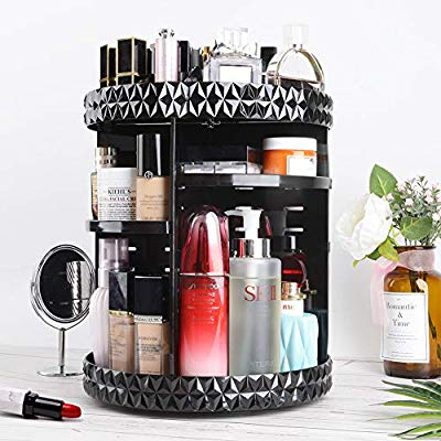 360 Rotating Crystal Cosmetic Storage Box