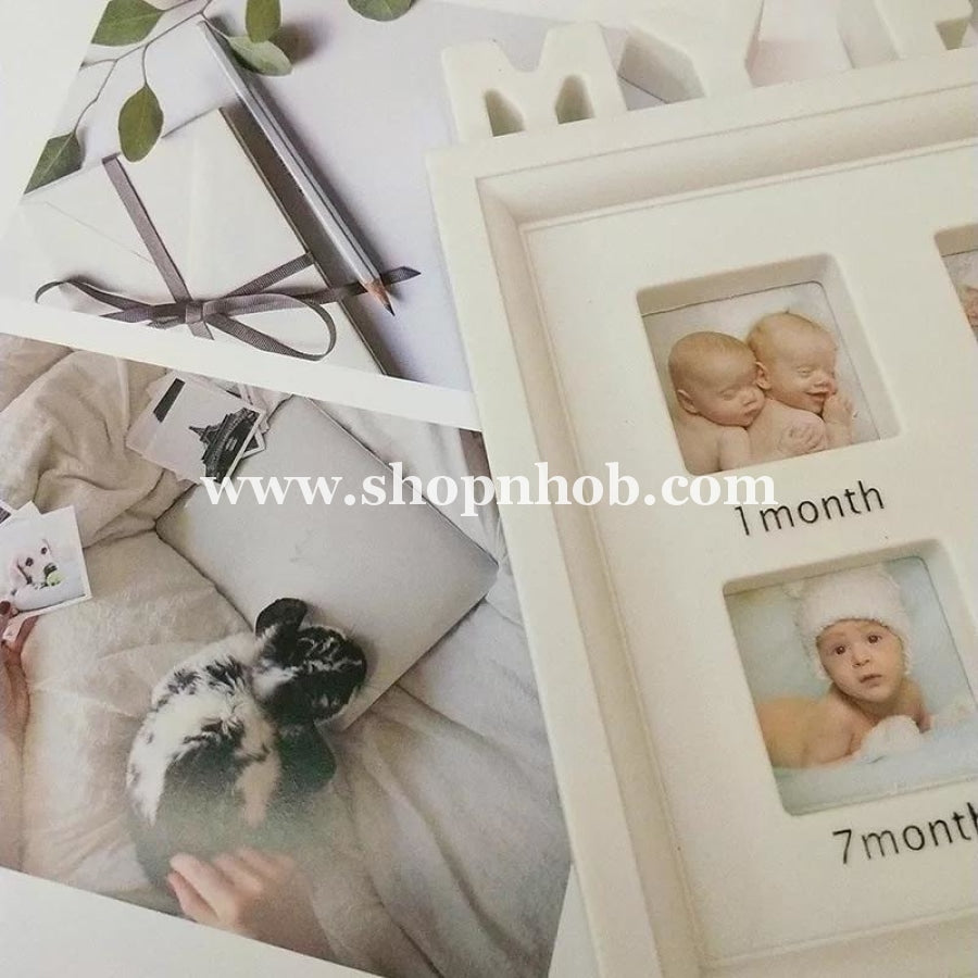 Baby 0~12 Month Growth Moments Photo Frames - ShopnHob (3596914393168)
