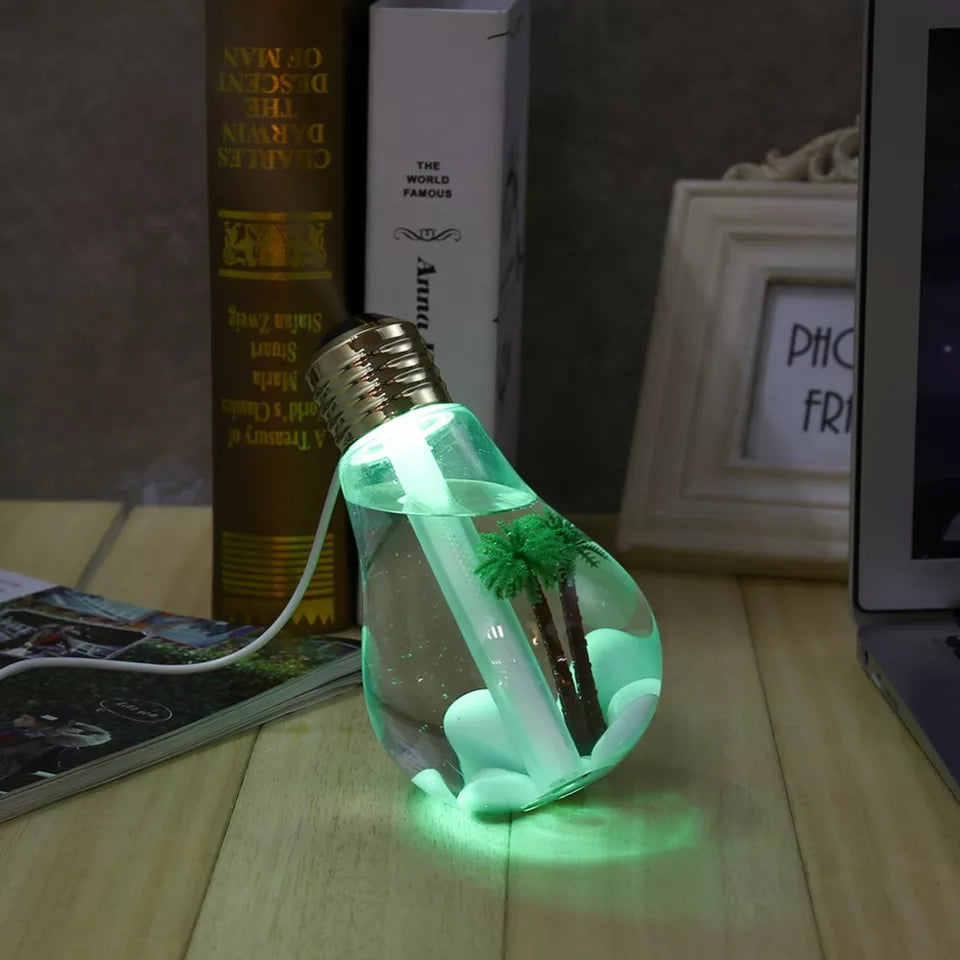 LED Lamp Air Ultrasonic Humidifier for Home Essential Oil Diffuser - ShopnHob (3547088814160)