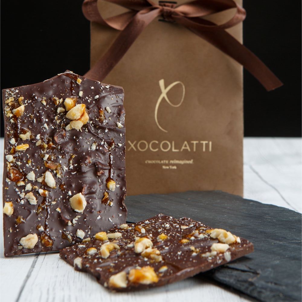 Caramelized Hazelnut Bark