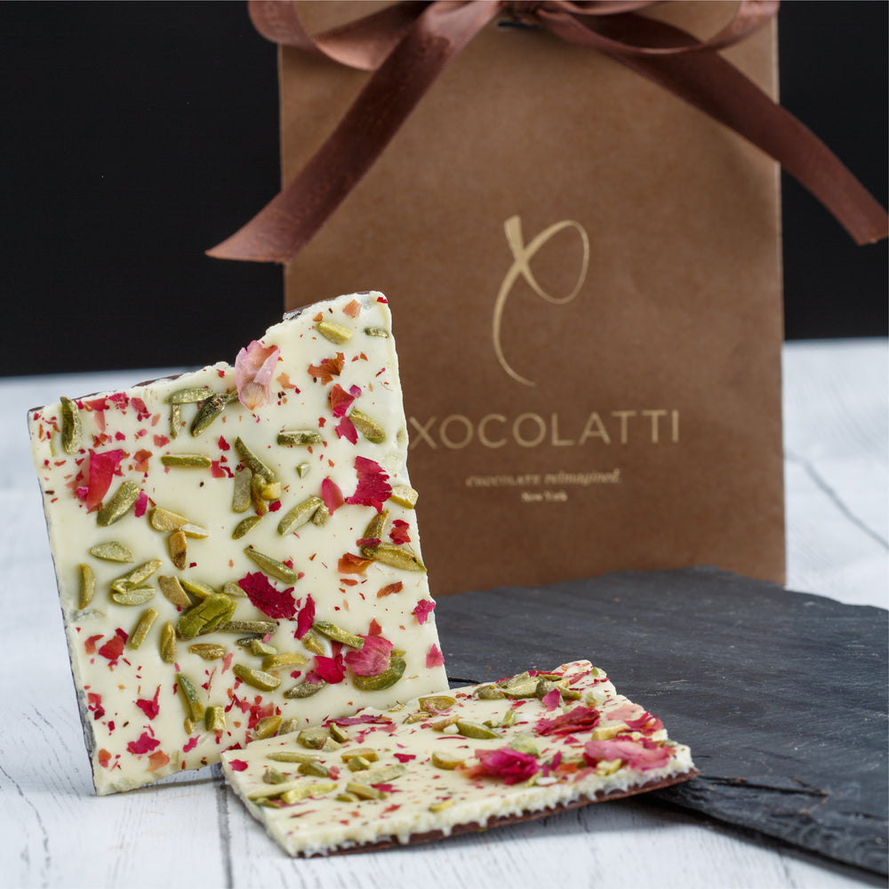 Rose Pistachio Chocolate Bark