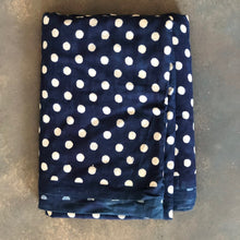 Load image into Gallery viewer, Indigo Polka Dot Fabric
