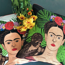 Load image into Gallery viewer, Frida Kahlo Hand Embroidered Cushion Cover
