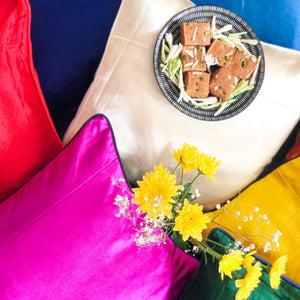 Assorted set of 4/6/8 mashru silk cushion covers