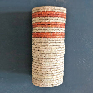 Brown and Natural Sabai Vase