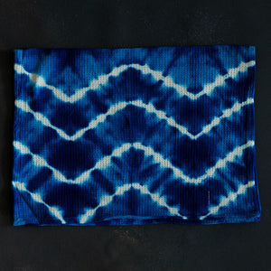 Bright Blue Tie Dye Tea Towel Set