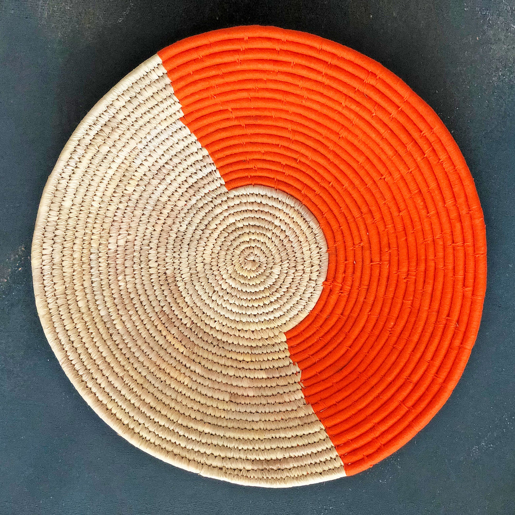Orange Half & Half Handwoven Sabai Grass