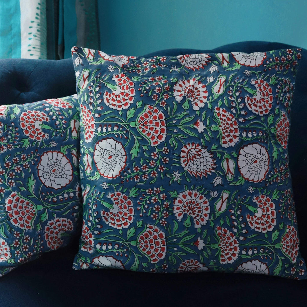 Blue Pomegranate Cushion Cover