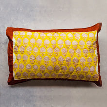 Load image into Gallery viewer, Yellow Pomegranate Double Bed Jaipuri Reversible Quilt Set