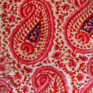 Pink Paisley Mashru Silk Cushion Cover