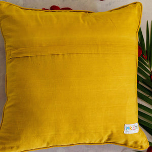 Multicolour Stripes Mashru Silk Cushion Cover