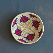 Load image into Gallery viewer, Red & Green Dadam Sabai Handwoven Grass Basket