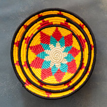 Load image into Gallery viewer, Red & Yellow Sun Sabai Handwoven Grass Basket