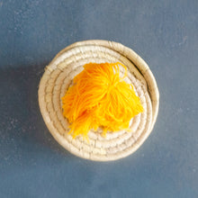 Load image into Gallery viewer, Sabai Natural Cannister with Pom Pom