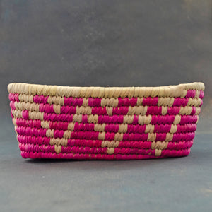 Pink Chevron Sabai Bread Basket
