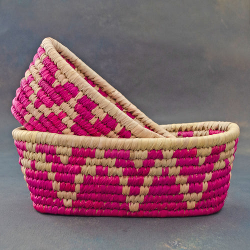 Pink Sabai Bread Basket Shop Online Free Shipping