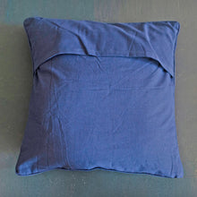 Load image into Gallery viewer, Navy Dark Blue Handloom Mashru Silk Cushion Cover