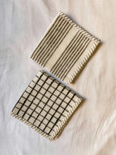 Load image into Gallery viewer, Black Stripe and Check Blockprint Dish Towel Combo