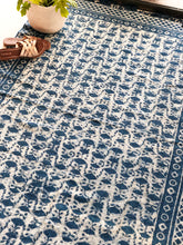 Load image into Gallery viewer, Indigo Jellyfish Cotton Rug