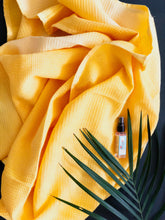 Load image into Gallery viewer, Yellow Ombre Dyed Bath Towel