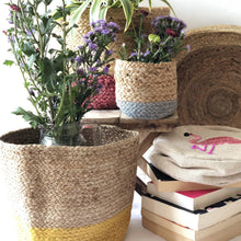 Load image into Gallery viewer, multicolor jute planters