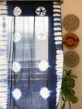 Load image into Gallery viewer, Indigo Marigold Tie Dye Semi Sheer Curtain