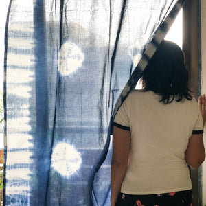 indigo tie dye curtains