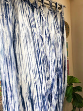 Load image into Gallery viewer, Indigo Shibori Tie Dye Sheer Curtain