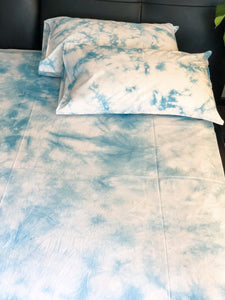 Sky Dye Bedsheet and Reversible Dohar Set