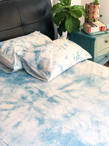 Sky Dye Double Bed Bedsheet