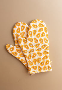 Papaya Oven Mitts Set of 2