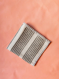 Black Stripe Blockprint Dish Towel Set of 2