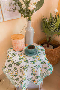 Avocado Blockprint Tea Towel