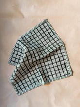 Load image into Gallery viewer, Black Checks Blockprint Dish Towel Set of 2