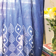 Load image into Gallery viewer, Indigo Bandhani Kutchi Door Curtain