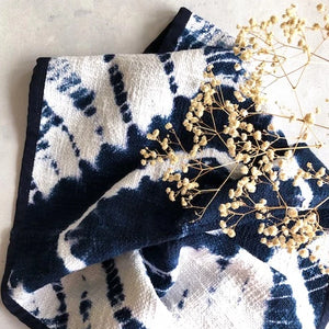 Indigo Shibori Tea Towel Set
