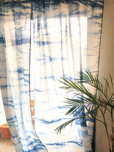 Load image into Gallery viewer, Indigo Hand Tie Dye Curtains