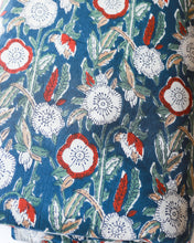 Load image into Gallery viewer, Multicolor Floral Blockprint Cotton Fabric (min. 2m)