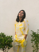 Load image into Gallery viewer, Yellow Tie Dye Loungewear Pyjama Set