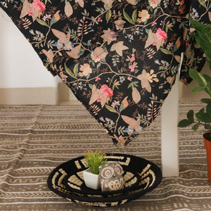 Black Floral Paradise Cotton Fabric (min. 2m)