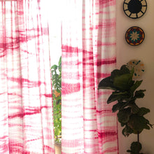 Load image into Gallery viewer, pink shibori curtains