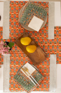 Udaipur Buti Blockprint Table Runner